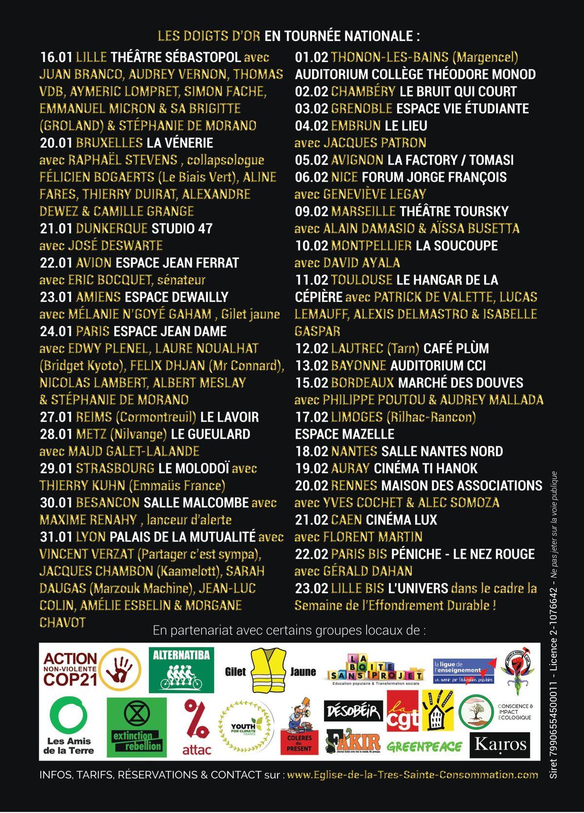 Découvrez notre tournée de 30 dates